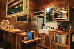 comment amenager une petite cuisine idees en photos With petite cuisine en bois