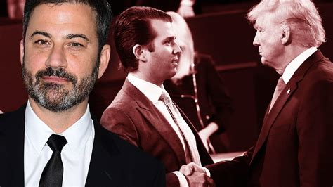 trump jr kimmel donald jimmy hollywood access tape him don sends fl puts place