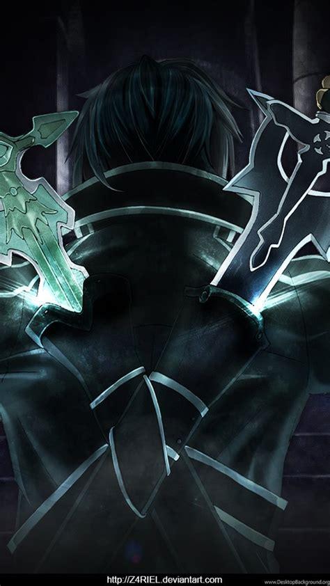 Sword Art Online Kirito Dual Blades Wallpaper By Z4riel