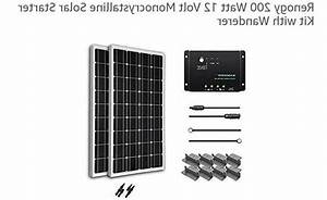 Renogy 200 Watt 12 Volt Monocrystalline Solar Starter