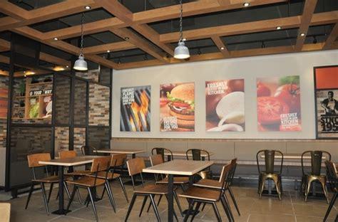 burger king introduces  restaurant design  uk
