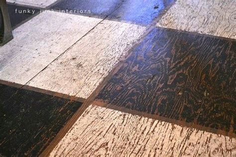 plywood painted floor for the home
