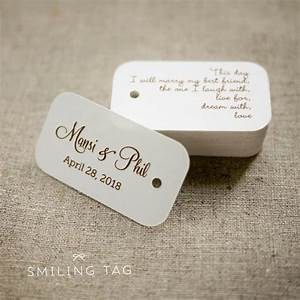 on this day personalized gift tags custom wedding favor tags With personalized wedding favor tags