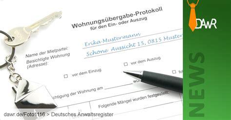 Wohnungsübergabe Was Ist Zu Beachten by Dawr Gt Die Wohnungs 252 Bergabe Rechtliche Informationen
