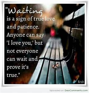 Waiting is sign of love - DesiComments.com