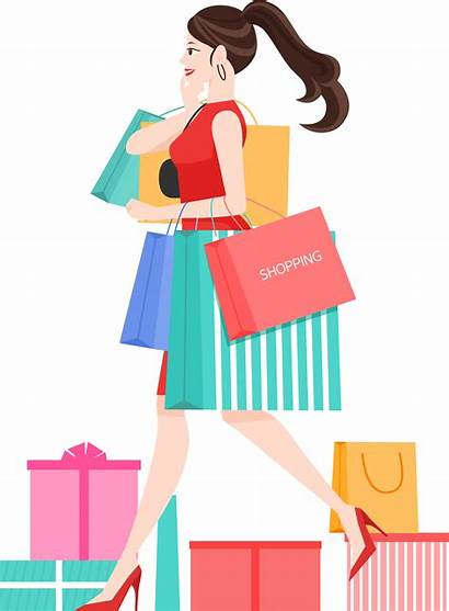 Shopping Transparent Spree Clipart Clip Illustration Purchasing