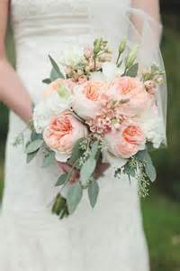 Pink Juliet Roses And Seeded Eucalyptus Bridal Bouquets