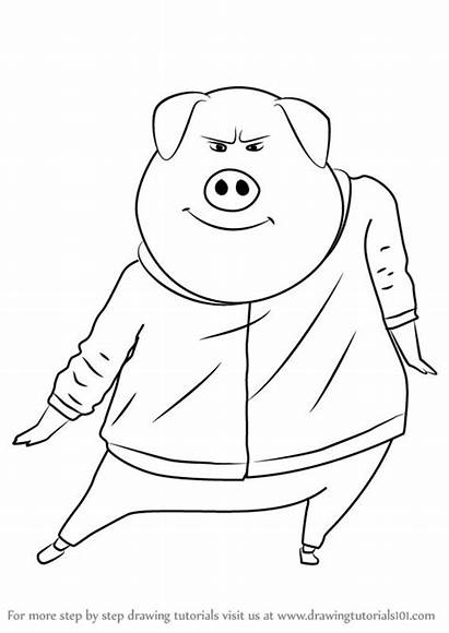 Sing Drawing Gunter Draw Coloring Pages Step