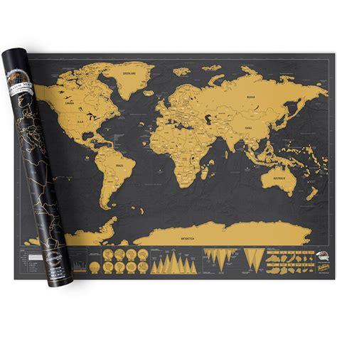 les heures de bureau carte du monde à gratter edition deluxe gadgets et