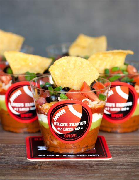 superbowl snack ideas individual 7 layer dips super bowl snack evermine blog