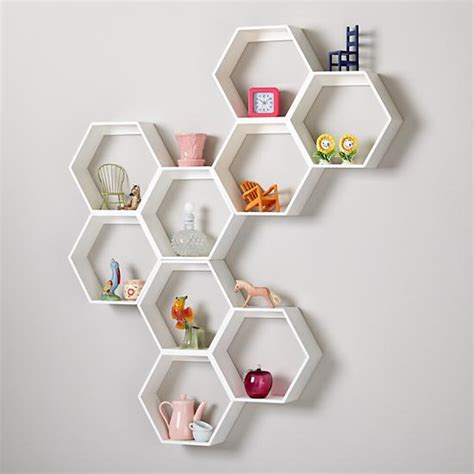 exclusive 5 designer wall unit by honeycomb wall shelf white