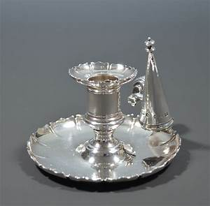 Antique, Silver, Chamberstick, Or, Go, To, Bed