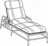 Lounge Chaise Furniture Coloring Pages sketch template