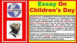 Essay On Children's Day In English | Children's Day Essay ...