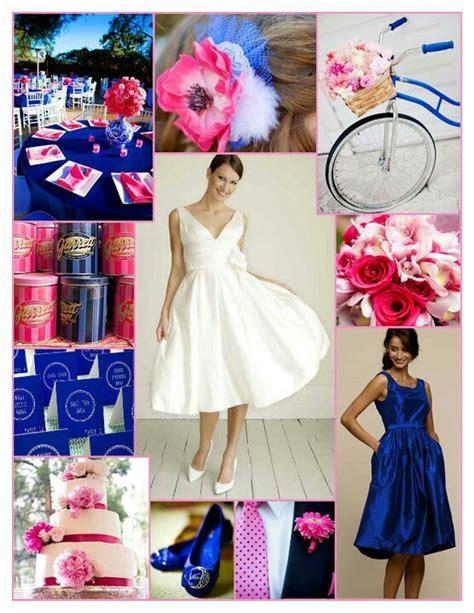 royal blue and pink wedding inspiration summer wedding