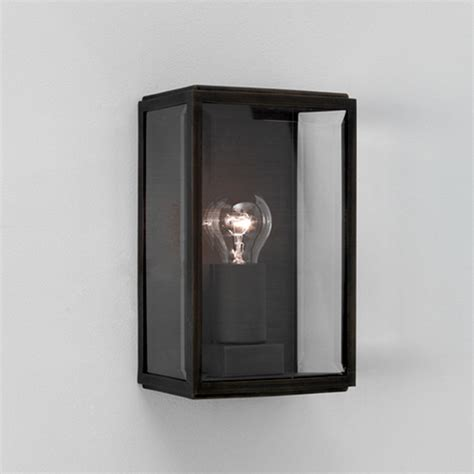 astro homefield ip44 outdoor flush wall light with pir