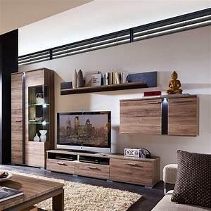 Beleuchtung Wohnzimmer Led : wohnzimmer wohnwand mit led beleuchtung eiche san remo ~ Sanjose-hotels-ca.com Haus und Dekorationen