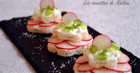 cuisiner le radis blanc petits toasts au fromage blanc et radis recette par ma