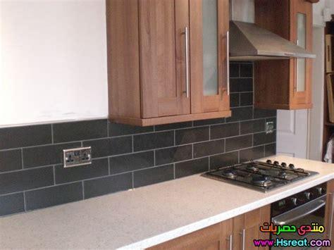 grey brick tiles kitchen ديكورات مطابخ بالطوب الحراري باللون الاسود اشيك واجمل مطابخ 4055