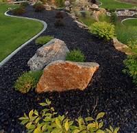 rocks for landscaping black river rock landscaping Love the black rock   Landscaping   River rock landscaping ...
