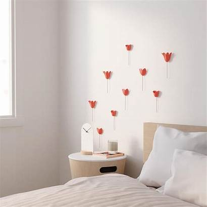 Wall Decoration Coral Tulips Umbra Deco Decor