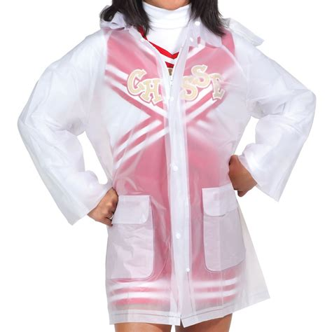 light pink vest chassé clear jacket with omni cheer