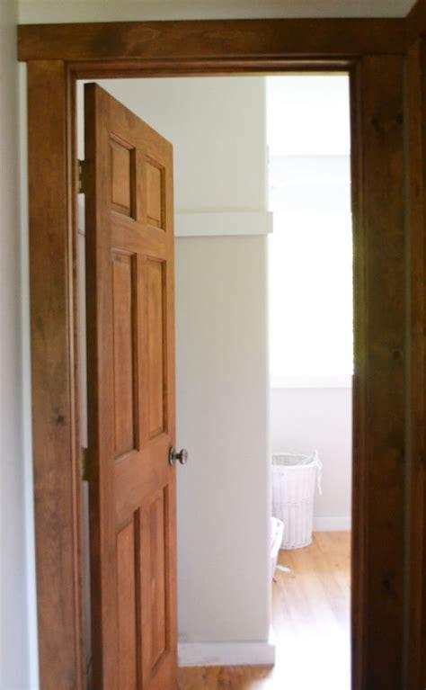 staining wood trim ana white