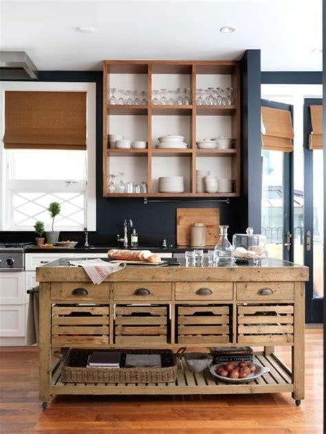 ilot cuisine palette la cuisine équipée avec îlot central 66 idées en photos