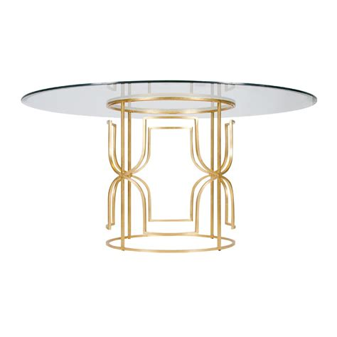 48 glass table top worlds away jennifer gold leaf dining table with 48 inch