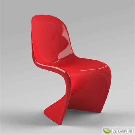 chaise pantone panton chair 3d model max obj 3ds fbx mtl cgtrader com