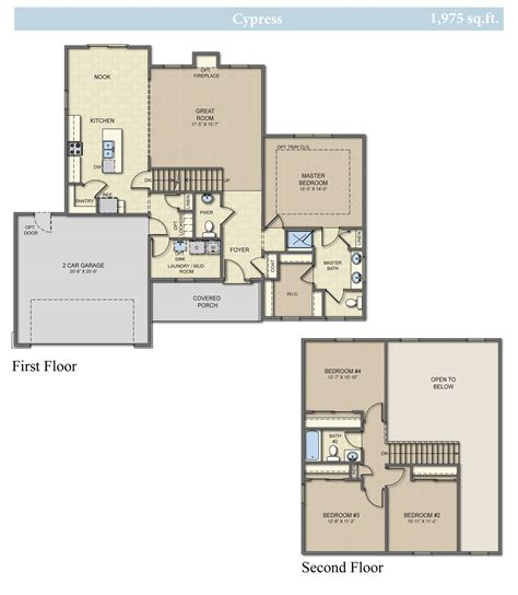 homes cypress  bedroom  bath home plan