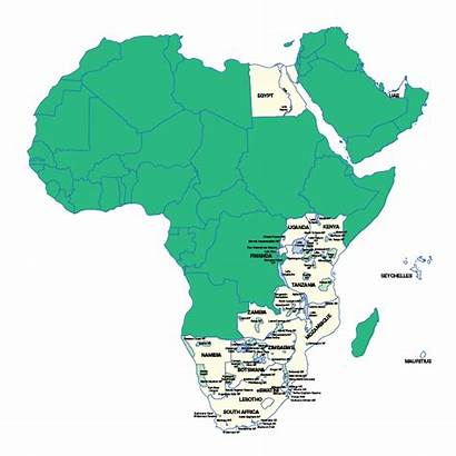 Africa Map Countries Destinations Swaindestinations