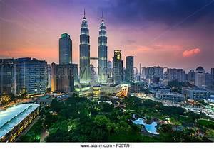 Kuala Lumpur Skyline Night Stock Photos & Kuala Lumpur ...