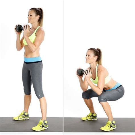 squat kettlebell goblet kettle bell should exercises helth