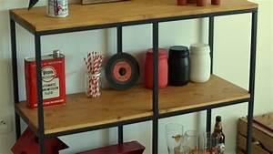 Buffet Industriel Ikea : attrayant meuble separation cuisine salon 5 pour un meuble style industriel bois sans craquer ~ Teatrodelosmanantiales.com Idées de Décoration