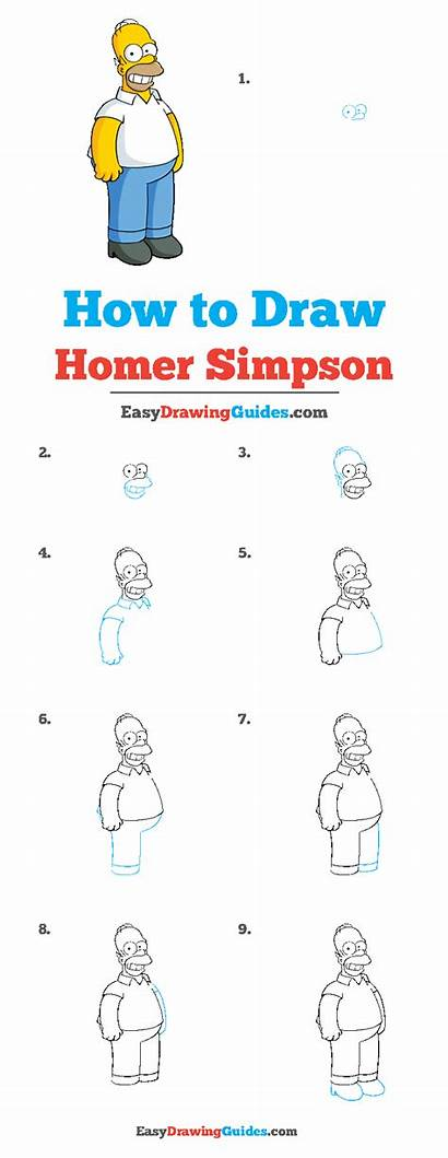 Homer Simpson Draw Easy Drawing Tutorial Easydrawingguides