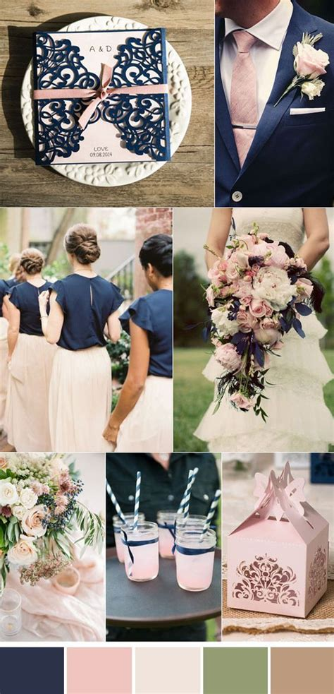 Image result for navy and blush wedding: Light pink wedding