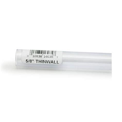 Rigid Plastic Tubing 58 Inch Outer Diameter 3 Foot Length