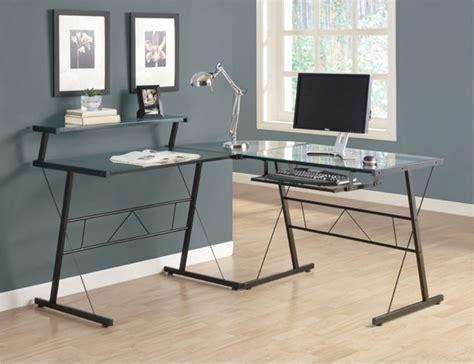 black glass l shaped desk monarch black metal l shaped computer desk with tempered
