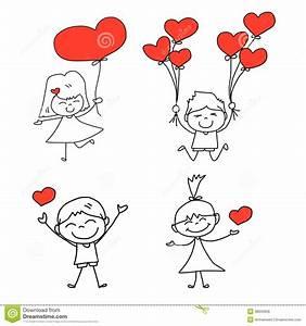 Cartoon Hand-drawn Happy Love Royalty Free Stock Image ...