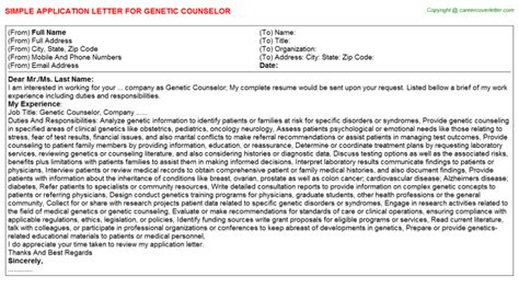 genetic counselor title docs