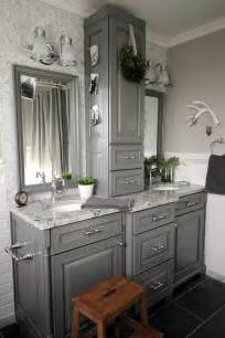bathroom vanity makeover ideas before and after grey and white traditional bathroom makeover the creek line house