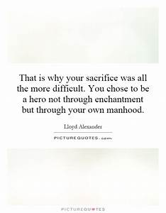 That is why you... Self Sacrifice Hero Quotes
