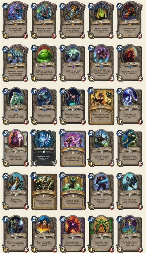 hearthstone deck naxx new naxx cards unveiled hearthstone expansion later