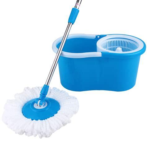 flooring mop microfiber 2 heads 360 176 spinning floor mop magic spin easy w bucket rotating ebay