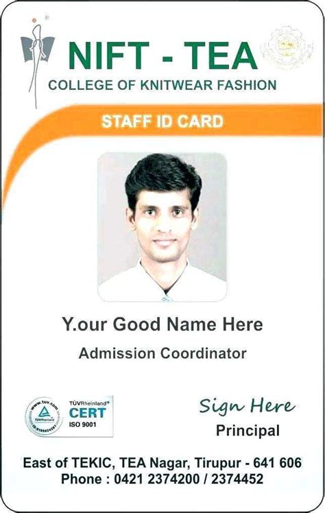 employee id card template   excel cards