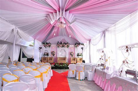 dekorasi tenda pernikahan  resepsi pernikahan