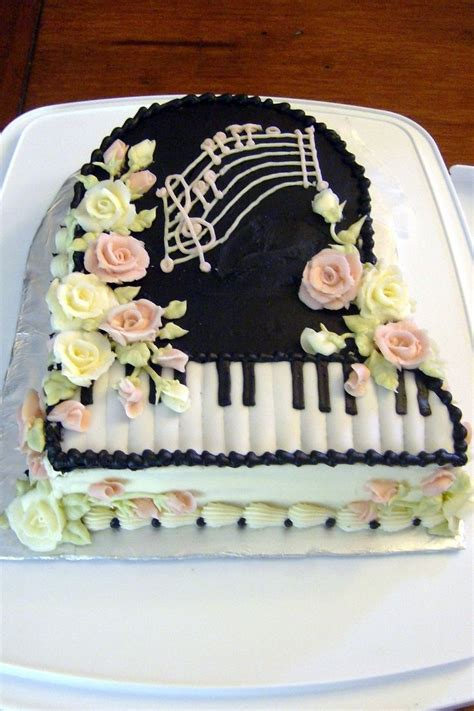 piano cakes ideas  pinterest  birthday