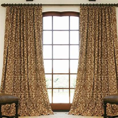 Drapes Custom Linen Drapery Patterned Curtains Chocolate