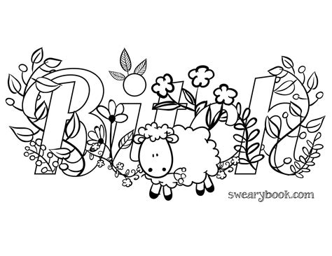 Swear Word Coloring Pages Swear Word Printable Coloring Pages Sketch Coloring Page